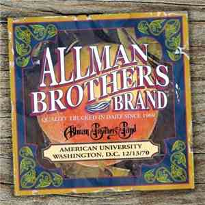 The Allman Brothers Band - American University Washington, D.C. 121370 (200 ...